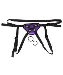 Трусики для страпона со сменными кольцами Universal Harness фиолетовые