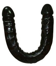 Фаллоимитатор двусторонний Ultra-Dongs Black черный