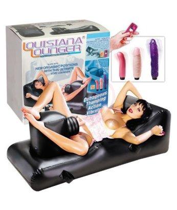 Секс-кровать с вибраторами Louisiana Lounger
