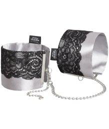 Атласные наручники с кружевом '50 оттенков серого' Play Nice