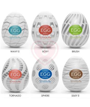 Набор мастурбаторов в форме яйца Tenga Eggs New Standard 6 шт