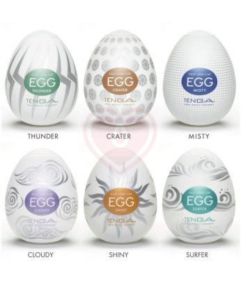 Набор мастурбаторов в форме яйца Tenga Eggs Set New Edition 6 шт