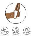 Узкие наручники Bijoux Indiscrets Maze Thin Handcuffs коричневые
