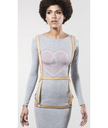 Портупея Bijoux Indiscrets Maze Arros Dress бежевая