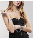 Металлические наручники Bijoux Indiscrets Metallic Mesh Handcuffs серебристые
